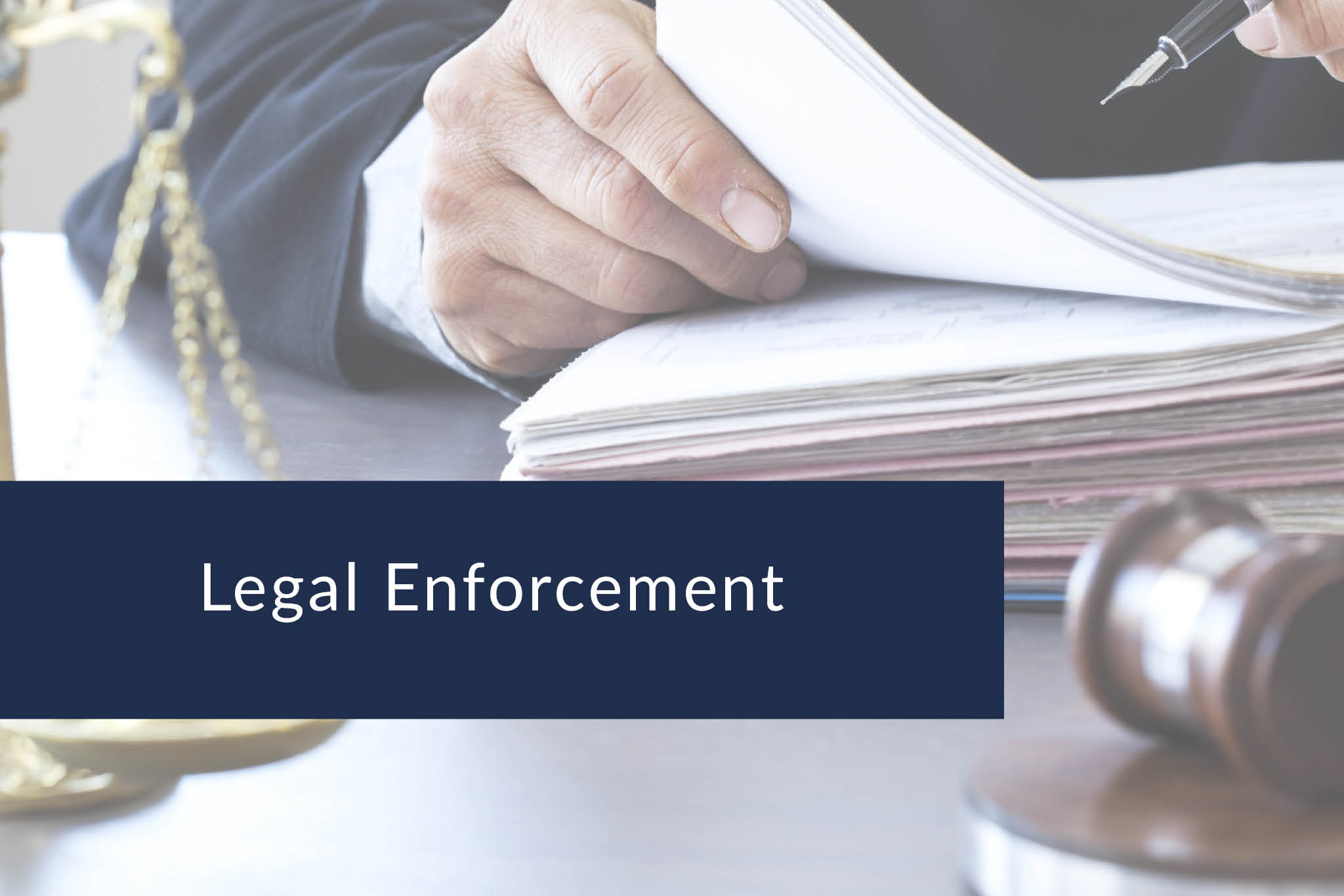 Legal enforcement